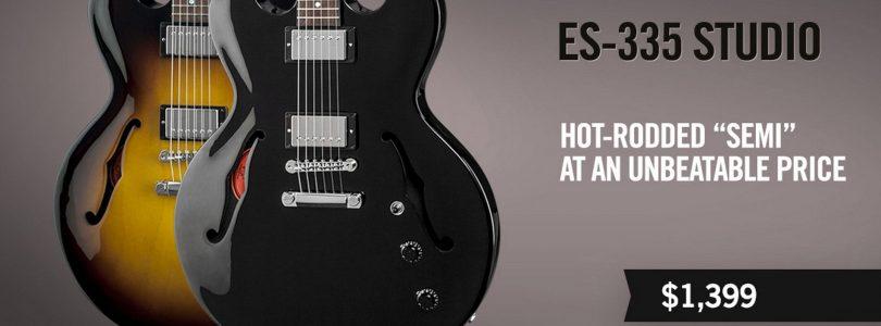 Gibson releases new ES-335 Studio and ES-339 Studio
