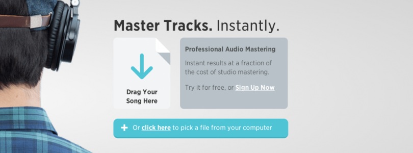 LANDR – an online drag and drop service that instantly masters your music