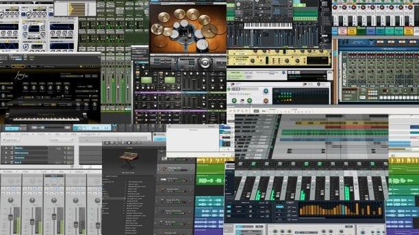 Various Digital Audio Workstations