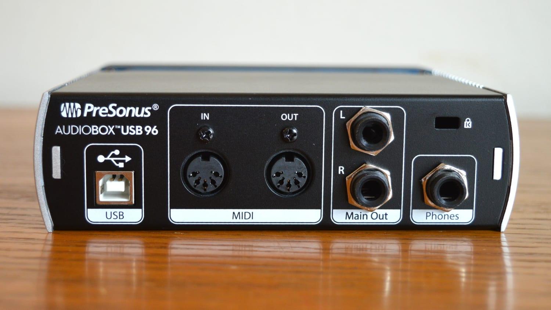 PreSonus AudioBox USB 96 Back