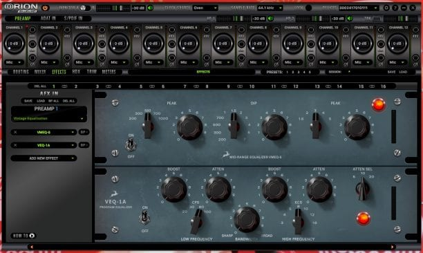 Antelope Audio Orion Studio HD Software