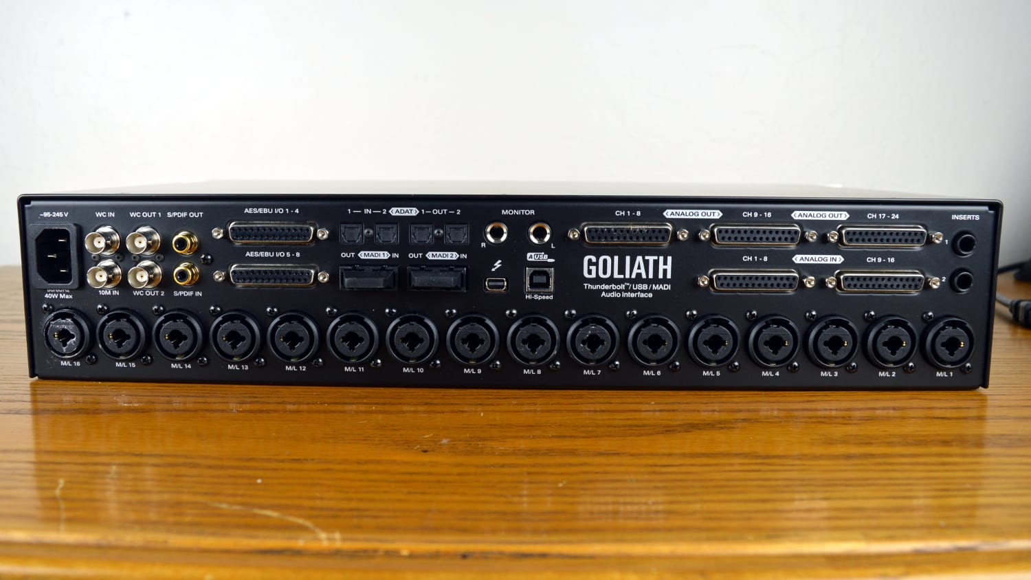 Antelope Audio Goliath Back