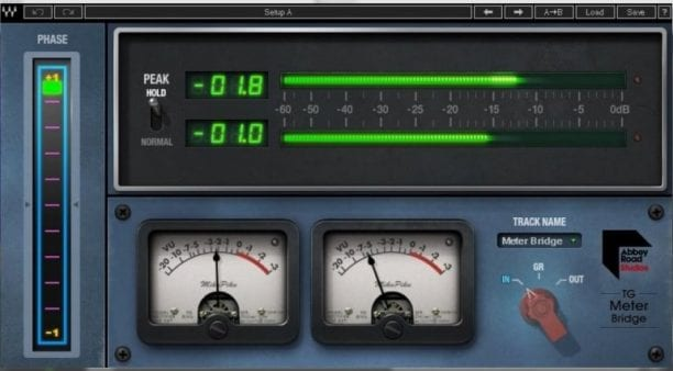Waves Abbey Road TG Mastering Chain Monitoring