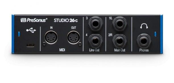 PreSonus Studio 26c Back