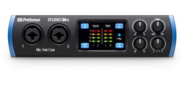 PreSonus Studio 26c Front