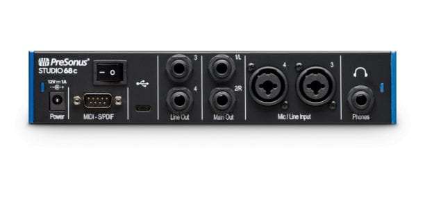 PreSonus Studio 68c Back