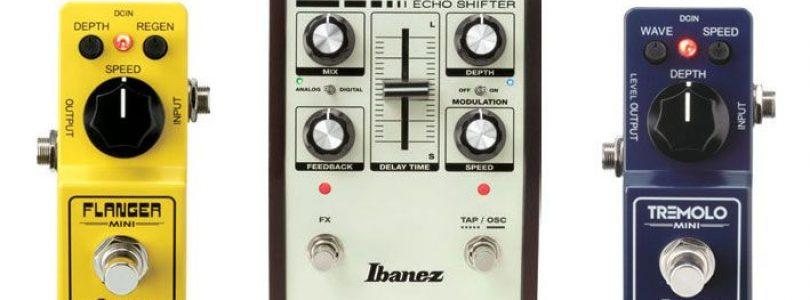 Ibanez Flanger Mini, Echo Shifter, Tremolo Mini