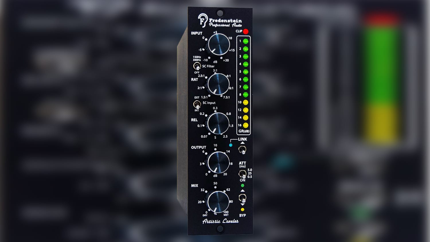 fredenstein audio artistic leveler 500 series compressor