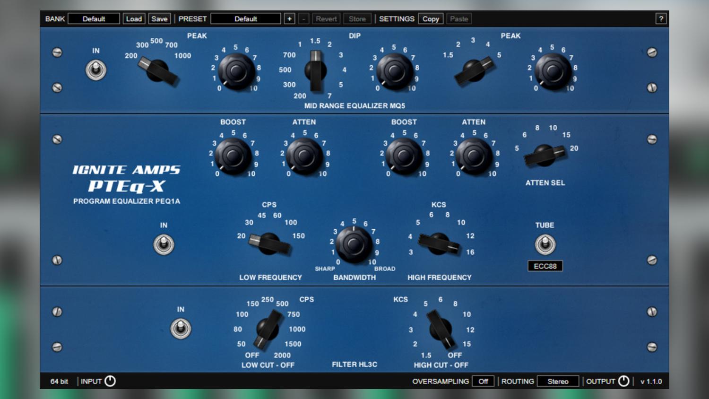 ignite amps pteq-x pultec plugin